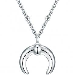 Powlekany naszyjnik z zawieszką - dł. 40 cm. Szare naszyjniki damskie Stylowa biżuteria, srebrne. W wyprzedaży za 99,95 zł.
