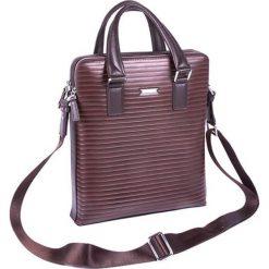 Torebki klasyczne damskie: Skórzana torba w kolorze brązowym – (S)30 x (W)34 x (G)7 cm