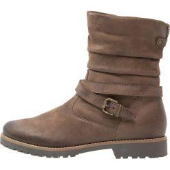 Pier One Botki testa di moro. Brązowe buty zimowe damskie marki Pier One, z materiału. W wyprzedaży za 246,75 zł.