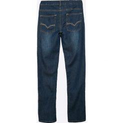 Guess Jeans - Spodnie dziecięce 125-175 cm. Niebieskie jeansy chłopięce marki Guess Jeans, z obniżonym stanem. W wyprzedaży za 89,90 zł.