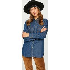 Answear - Koszula. Szare koszule jeansowe damskie marki ANSWEAR, l, casualowe, z klasycznym kołnierzykiem, z długim rękawem. W wyprzedaży za 69,90 zł.