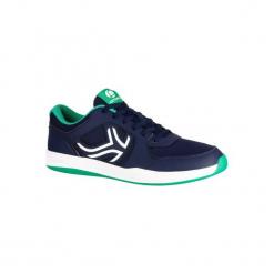 Buty tenis TS130 męskie na twardą nawierzchnię. Niebieskie buty do tenisa męskie ARTENGO, z gumy. Za 84,99 zł.