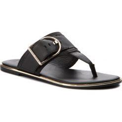 Chodaki damskie: Japonki TOMMY HILFIGER - Flat Sandal Oversized Buckle FW0FW02577 Black 990