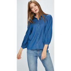 Vila - Koszula Bista. Szare koszule damskie marki Vila, z bawełny, casualowe, z klasycznym kołnierzykiem, z długim rękawem. W wyprzedaży za 99,90 zł.