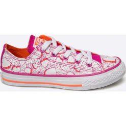 Converse - Tenisówki dziecięce. Różowe buty sportowe dziewczęce Converse, z materiału, na sznurówki. W wyprzedaży za 139,90 zł.