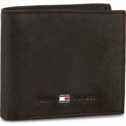Duży Portfel Męski TOMMY HILFIGER - Johnson Mini Cc Wallet AM0AM00663 002. Czarne portfele męskie marki TOMMY HILFIGER, z nubiku. Za 229,00 zł.