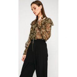 Answear - Koszula Garden of Dreams. Szare koszule wiązane damskie ANSWEAR, l, z poliesteru, casualowe, ze stójką, z długim rękawem. W wyprzedaży za 69,90 zł.