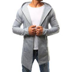 Bluzy męskie: Bluza męska narzutka z kapturem szara (bx2351)