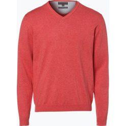Swetry klasyczne męskie: Finshley & Harding – Sweter męski z dodatkiem kaszmiru, pomarańczowy
