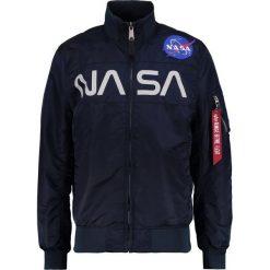 Alpha Industries NASA JACKET Kurtka Bomber blue. Czarne kurtki męskie bomber marki Alpha Industries, m, z aplikacjami. W wyprzedaży za 395,45 zł.