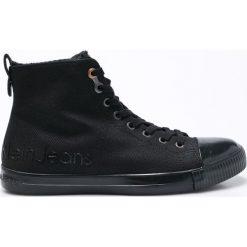 Calvin Klein Jeans - Trampki Aron Waxy. Czarne trampki męskie marki Calvin Klein Jeans, z jeansu, na sznurówki. Za 599,90 zł.