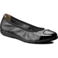 Baleriny CAPRICE - 9-22152-28 Black Nap Comb 026. Czarne baleriny damskie marki Caprice, ze skóry, na płaskiej podeszwie. W wyprzedaży za 169,00 zł.
