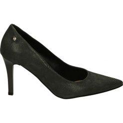Czółenka - 5015 TEJ GRIG. Czarne buty ślubne damskie Venezia, ze skóry. Za 179,00 zł.