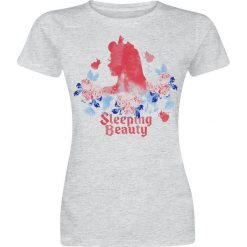 Śpiąca królewna Logo Koszulka damska odcienie szarego. Szare t-shirty damskie Śpiąca królewna, m, z napisami. Za 74,90 zł.