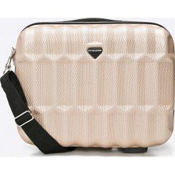 VIP COLLECTION - Walizka Barbados 16 L. Szare walizki marki VIP COLLECTION, w paski, z materiału, małe. Za 199,90 zł.