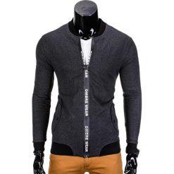 Bluzy męskie: BLUZA MĘSKA ROZPINANA BEZ KAPTURA B681 – GRAFITOWA