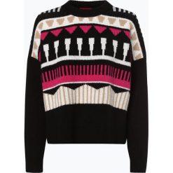HUGO - Sweter damski z dodatkiem alpaki – Sairisle, czarny. Czarne swetry klasyczne damskie HUGO, m. Za 499,95 zł.