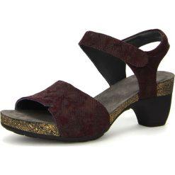 """Rzymianki damskie: Skórzane sandały """"Traudi"""" w kolorze czerwonym"""