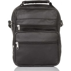 TORBA MĘSKA SKÓRZANA DO PRACY ABRUZZO. Czarne torby na ramię męskie Abruzzo, ze skóry, na ramię, duże. Za 139,00 zł.