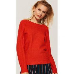 Sweter z szerokimi rękawami - Pomarańczo. Czerwone swetry klasyczne damskie House, l. Za 59,99 zł.