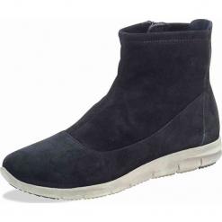 Skórzane sneakersy w kolorze czarnym. Szare sneakersy damskie marki Marco Tozzi. W wyprzedaży za 181,95 zł.