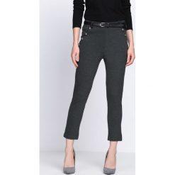 Spodnie damskie: Szare Spodnie Diamond Dust