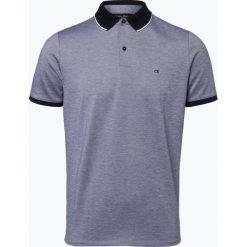 Calvin Klein - Męska koszulka polo, niebieski. Pomarańczowe koszulki polo marki Calvin Klein, l, z bawełny, z okrągłym kołnierzem. Za 349,95 zł.