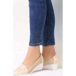 Buty ślubne damskie: Beżowe Koturny Soraya
