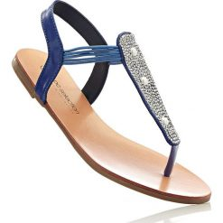 Sandały japonki bonprix błękit królewski. Niebieskie klapki damskie marki bonprix. Za 29,99 zł.