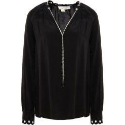 MICHAEL Michael Kors SCALLP CHAIN  Bluzka black/ silver. Czarne bluzki damskie marki Fille Du Couturier, z bawełny. Za 1009,00 zł.