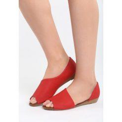 Baleriny damskie: Czerwone Balerinki Small Things