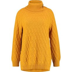Ivko Sweter golden. Brązowe swetry klasyczne damskie Ivko, z materiału. Za 709,00 zł.
