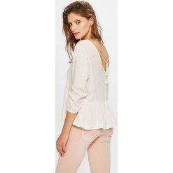 Answear - Bluzka. Szare bluzki nietoperze marki ANSWEAR, l, z tkaniny, casualowe. W wyprzedaży za 69,90 zł.
