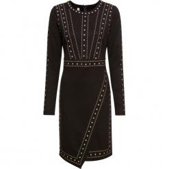 Sukienka z aplikacją z ćwieków bonprix czarny. Czarne sukienki balowe marki bonprix, z aplikacjami. Za 179,99 zł.
