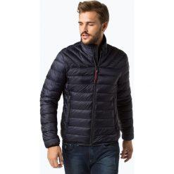 Napapijri - Męska kurtka pikowana – Noyi4y, niebieski. Szare kurtki męskie pikowane marki Napapijri, l, z materiału, z kapturem. Za 899,95 zł.