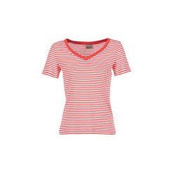T-shirty z krótkim rękawem Vero Moda  MARLEY. Niebieskie t-shirty damskie marki Vero Moda, z bawełny. Za 71,20 zł.