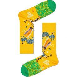 Happy Socks - Skarpety (3-pack). Żółte skarpetki męskie Happy Socks, z bawełny. W wyprzedaży za 89,90 zł.