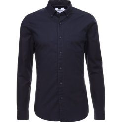 Koszule męskie na spinki: Topman BURG MUSCLE FIT OXFORD Koszula navy blue