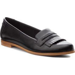 Półbuty CLARKS - Andora Crush 261271544 Black Leather. Czarne creepersy damskie Clarks, ze skóry ekologicznej, na obcasie. Za 329,00 zł.