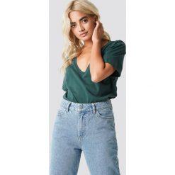 T-shirty damskie: Rut&Circle T-shirt z dekoltem V Clara - Green