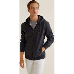 Mango Man - Bluza Bady3. Szare bluzy męskie rozpinane marki Mango Man, l, z bawełny, z kapturem. W wyprzedaży za 69,90 zł.