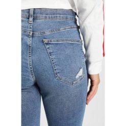 Boyfriendy damskie: Topshop Petite NEW JAMIE Jeans Skinny Fit blue denim