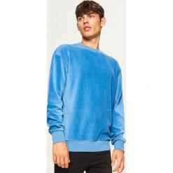 Bluza z prążkowanego weluru - Niebieski. Niebieskie bluzy męskie rozpinane Reserved, l, prążkowane. Za 119,99 zł.