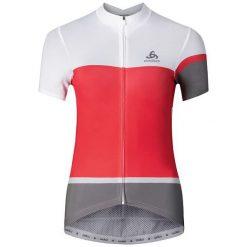 Odlo Koszulka Stand-up collar s/s KAMIKAZE biało-czerwono-szara r. S (411161). Białe topy sportowe damskie Odlo, s. Za 339,95 zł.