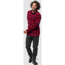 Koszule męskie na spinki: Jack Wolfskin Koszula męska Red River Shirt czerwono-granatowa r. L