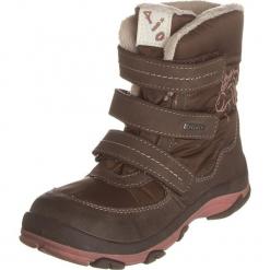 Kozaki zimowe w kolorze brązowym. Brązowe kozaki dziewczęce Zimowe obuwie dla dzieci, z materiału. W wyprzedaży za 129,95 zł.