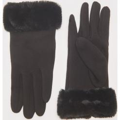 Rękawiczki z futerkiem - Czarny. Czarne rękawiczki damskie House. Za 29,99 zł.