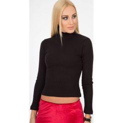 Czarna Bluzka z Golfem BB2759. Czarne bluzki asymetryczne Fasardi, l, z golfem. Za 29,00 zł.