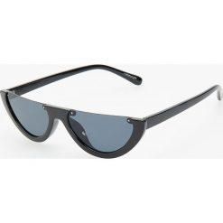 Okulary przeciwsłoneczne - Czarny. Czarne okulary przeciwsłoneczne damskie lenonki marki Reserved. Za 39,99 zł.
