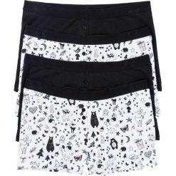 Bokserki damskie: Bokserki damskie (4 pary) bonprix czarno-biel wełny z nadrukiem
